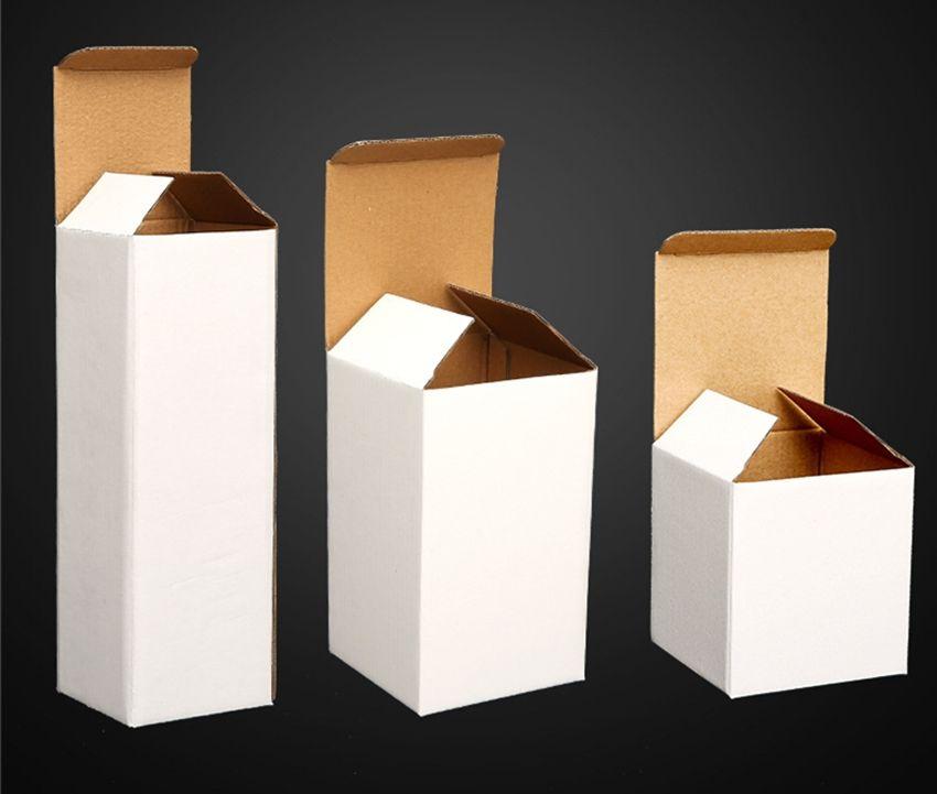emballage tasse personnalisée verre mince boîte 20 oz emballage Personnaliser différents modèles produits rapides boîtes pliantes blanches pour beaucoup la taille A07