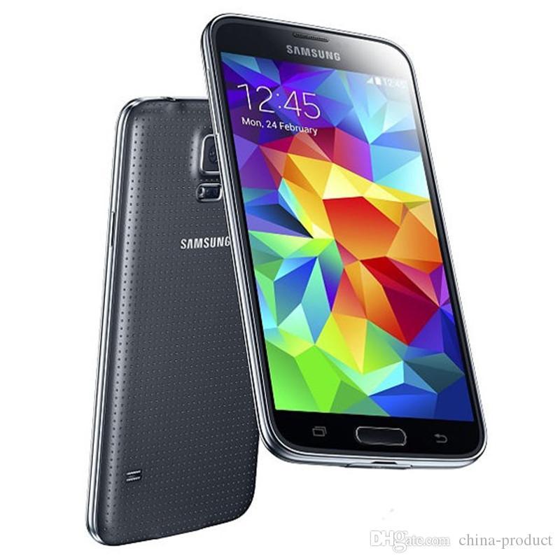 الأصلي تجديد سامسونج غالاكسي S5 G900A الهاتف 5.1 رباعية النواة 16GB ROM NFC الهواتف الذكية