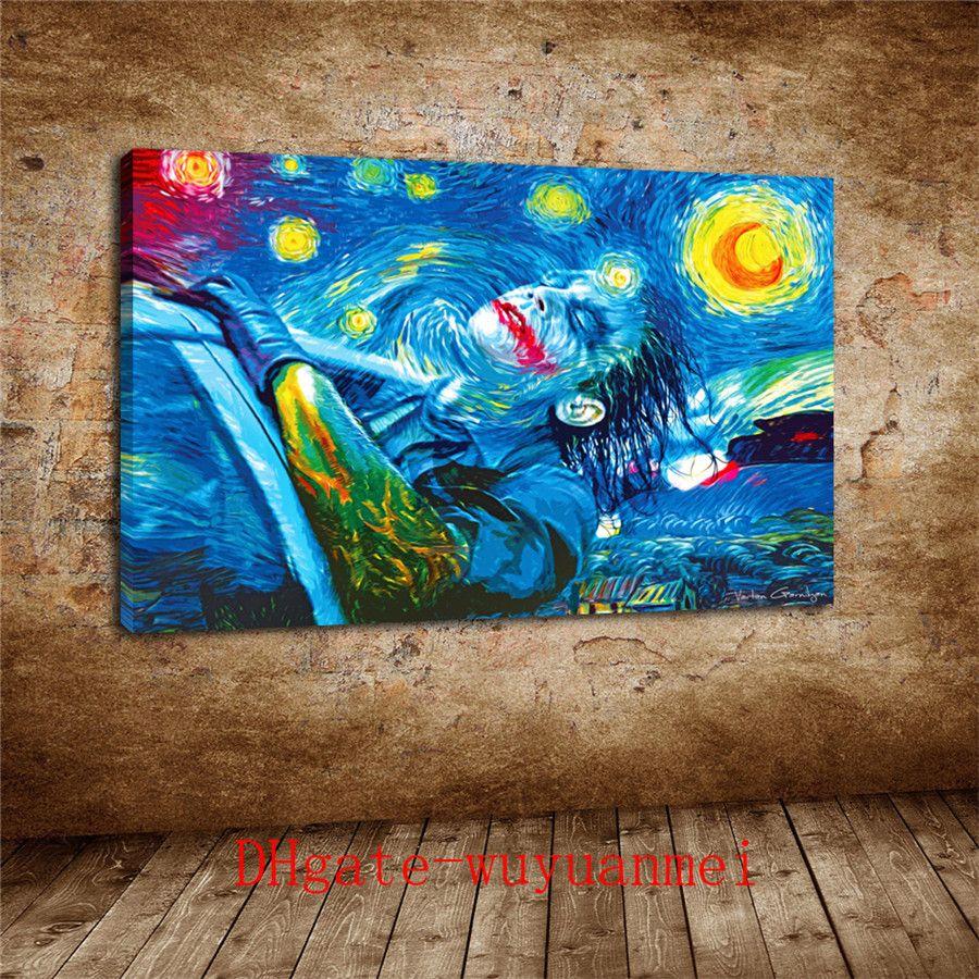 A Starry Joker, pintura da lona Pieces Home Decor HD impresso Modern Art on Canvas (Unframed / Framed)