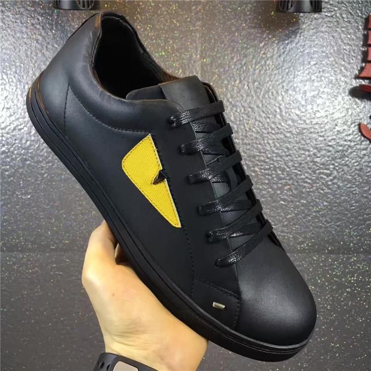 Zapatos deportivos de diseño plano de alta calidad para hombre, zapatos de cuero genuino para hombre, zapatos casuales de venta caliente
