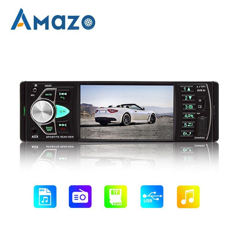 "1 Din Araç Radyo MP5 Çalar Bluetooth Multimedya AUX Radyo Stereo Çıkış U Disk TF Kart Okuyucu 12V 60W 4.1"" HD Ekran Araç"