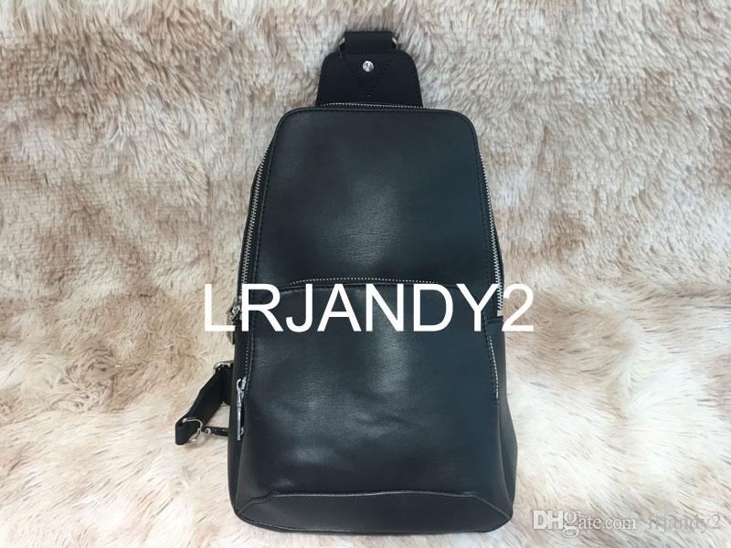 2018 neue schwarze Plaid AV. SCHULTERTASCHE D.GRAP. N41719 Reisetasche HERREN Umhängetasche N41612 Echtes Leder Brusttasche N41712