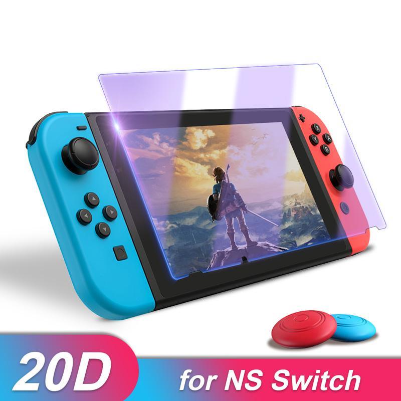 Экран Премиум Закаленное стекло Защитная пленка Thumbsticks для Nintendo Переключатель 9Н Принадлежности для Nintend Переключатель Lite NS