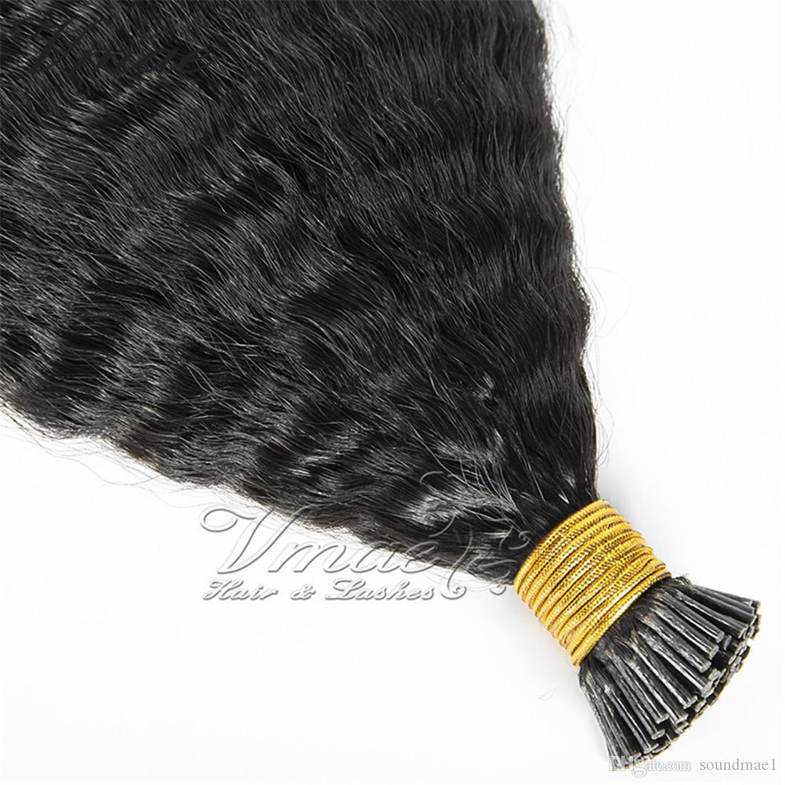 VMAE бразильский Реми девственница 50 г шелк прямой тело глубокая вода Свободная волна кератин Фьюжн 1 г / стенд U наконечник человеческих волос расширения