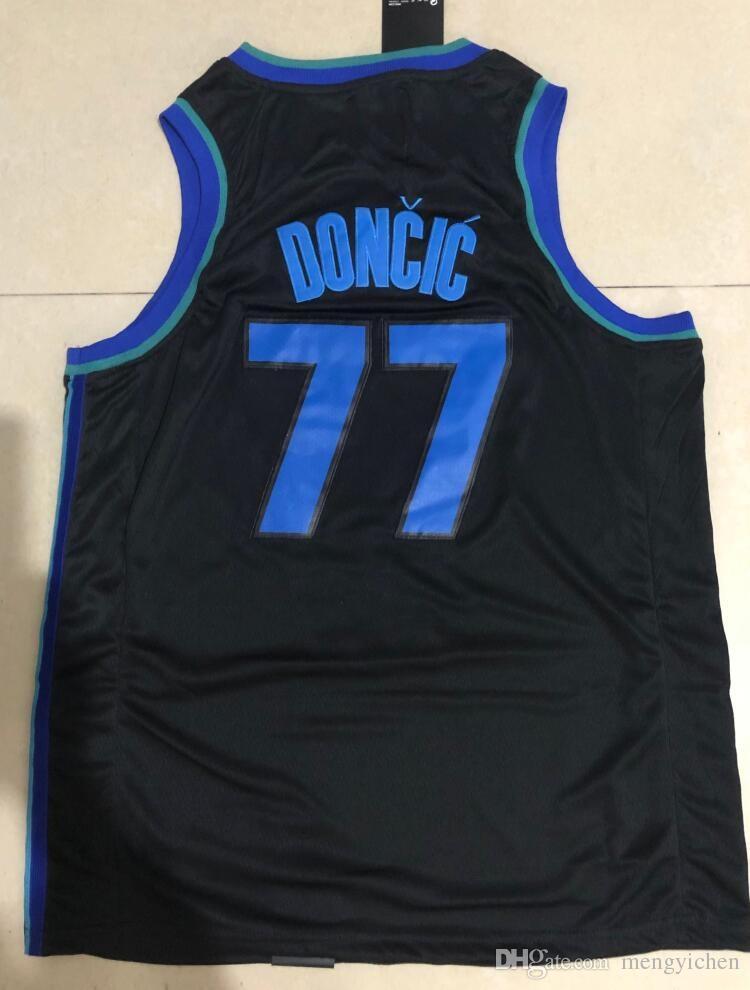 2019 2019 New City Edition Navy Blue 77 Luka Doncic Jersey White Black  Stitched 1 Dennis Smith Jr. 41 Dirk Nowitzki Jerseys Sportswear Shirt From  ... 761179dbc