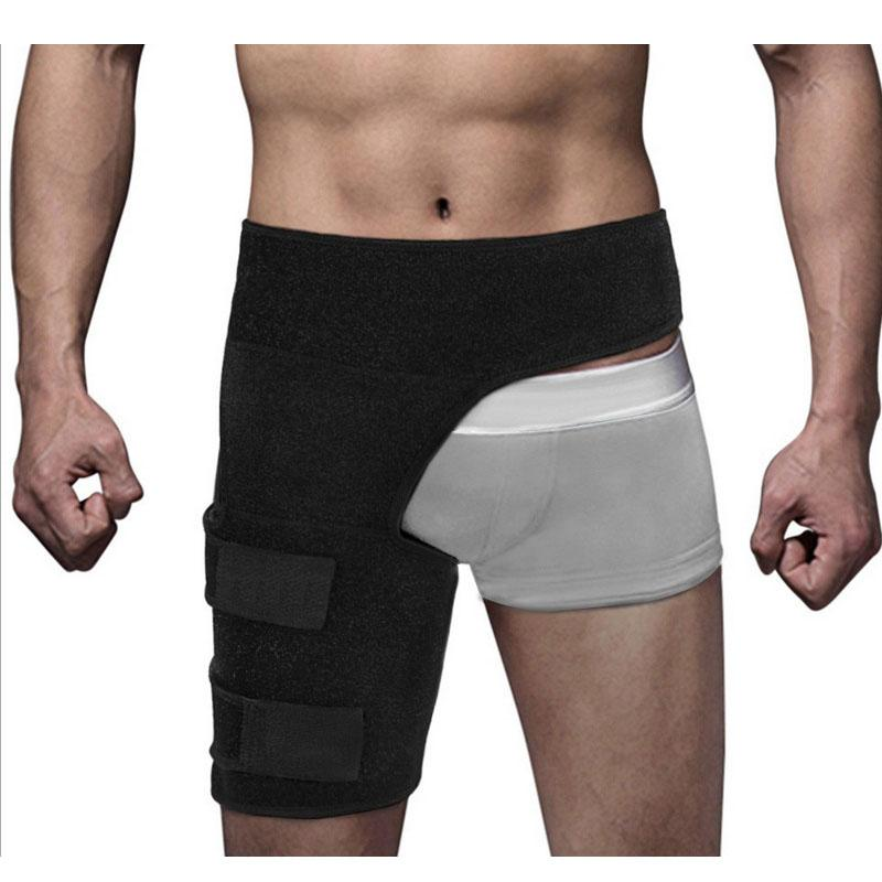 Newly Adjustable Groin Wrap Support Hamstring Recovery Support Brace With Stick Strap Fastener Slip Resistant 19ing
