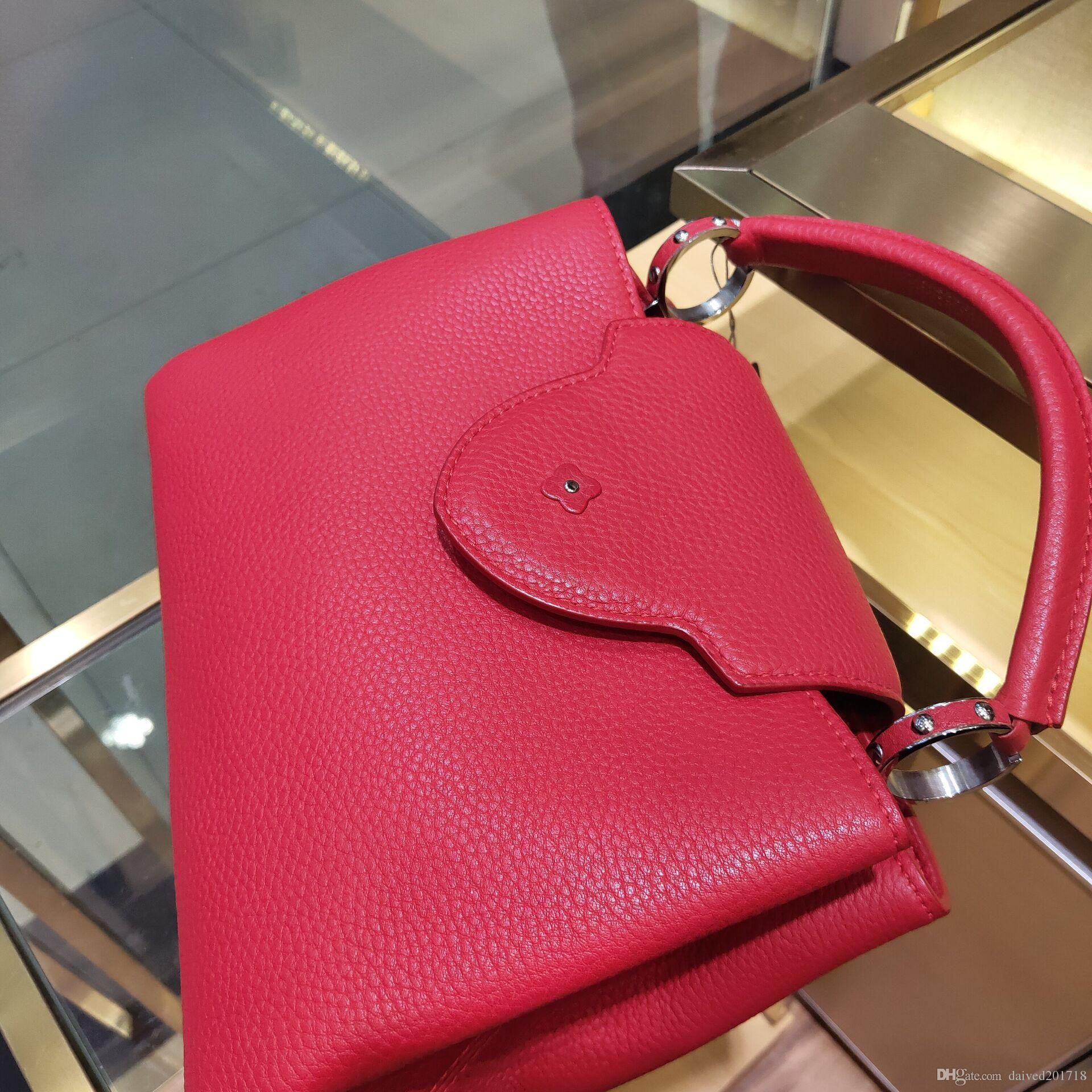Yeni Avrupa klasik lüks moda bayanlar moda çanta omuz Satchel çanta, parti çanta saf deri, yumuşak deri