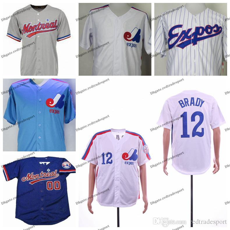 2021 Vintage 1995 Montreal Expos #12 Tom Brady Baseball Jerseys ...