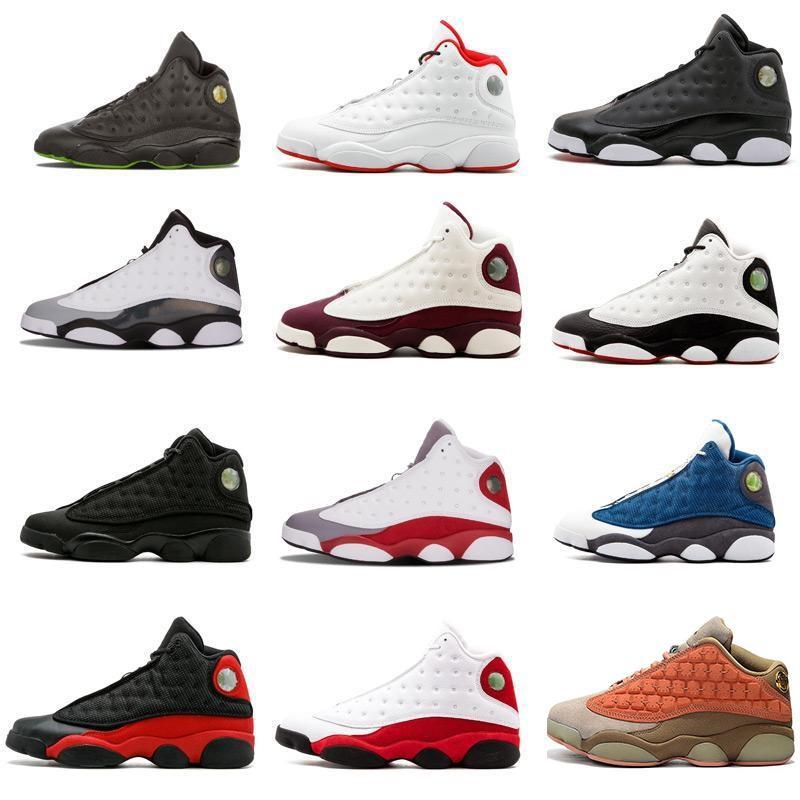 Üst Kalite 13s 13 erkekler kadınlar Basketbol Ayakkabı Düşük Chutney Lacivert Chicago kara kedi DMP Barons He Got Game spor Spor ayakkabılar