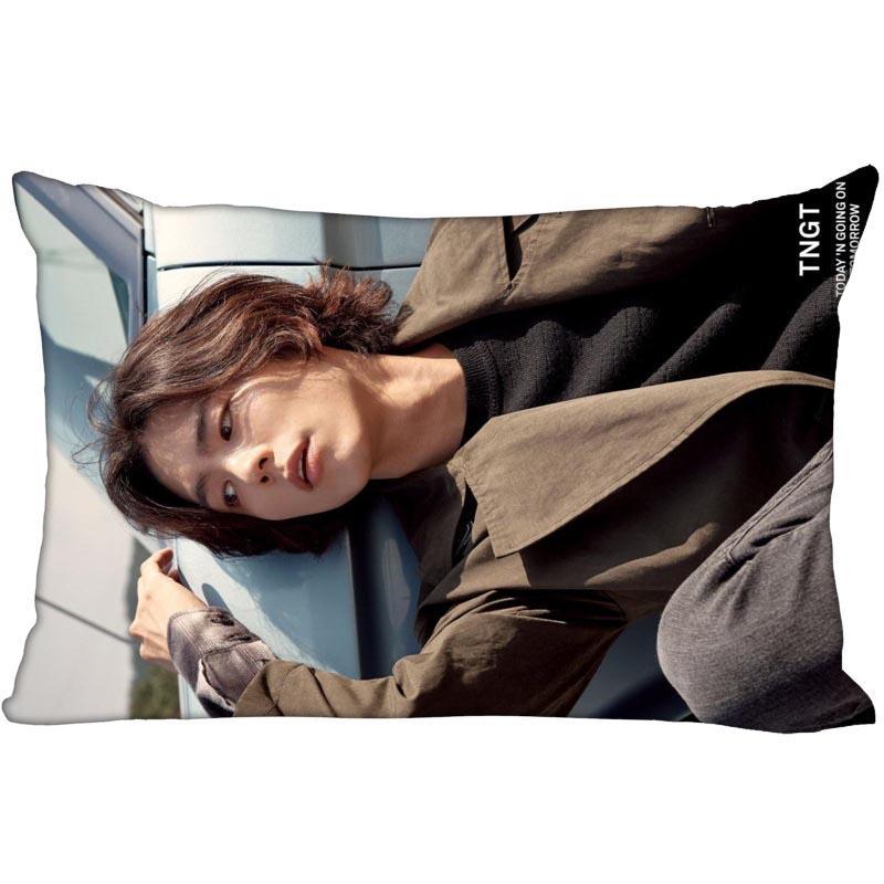 Новое прибытие KPOP звезды на заказ Park Bo Gum печатных сатин наволочка обычая две стороны больше размера 35x45cm, 40x60cm, 50x75cm Pillow Case