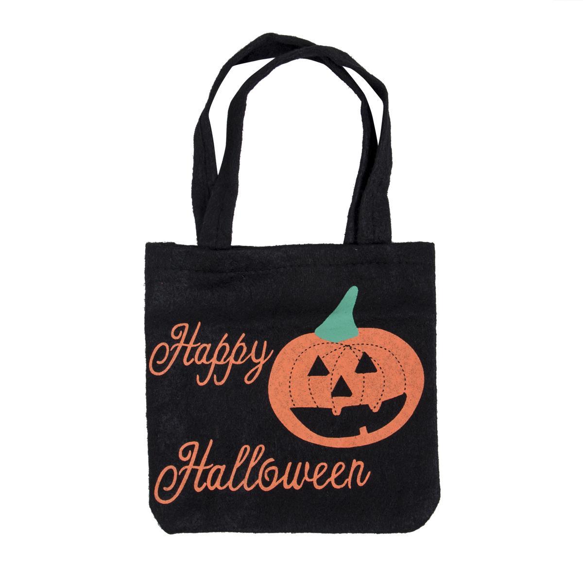 2019 Yeni Cadılar Bayramı Olmayan Dokuma Çanta Yağma Parti Kabak Hile veya tedavi Keçe Bez Çantalar Çocuk Çocuk Şeker Çanta Oyuncak Saklama Poşetleri