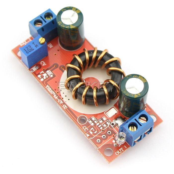 Freeshipping 5pcs DC Buck Converter 4-30V to 1.2-30V DIY adjustable Regulators Power 10A Adjustable step-down module Car Power Module