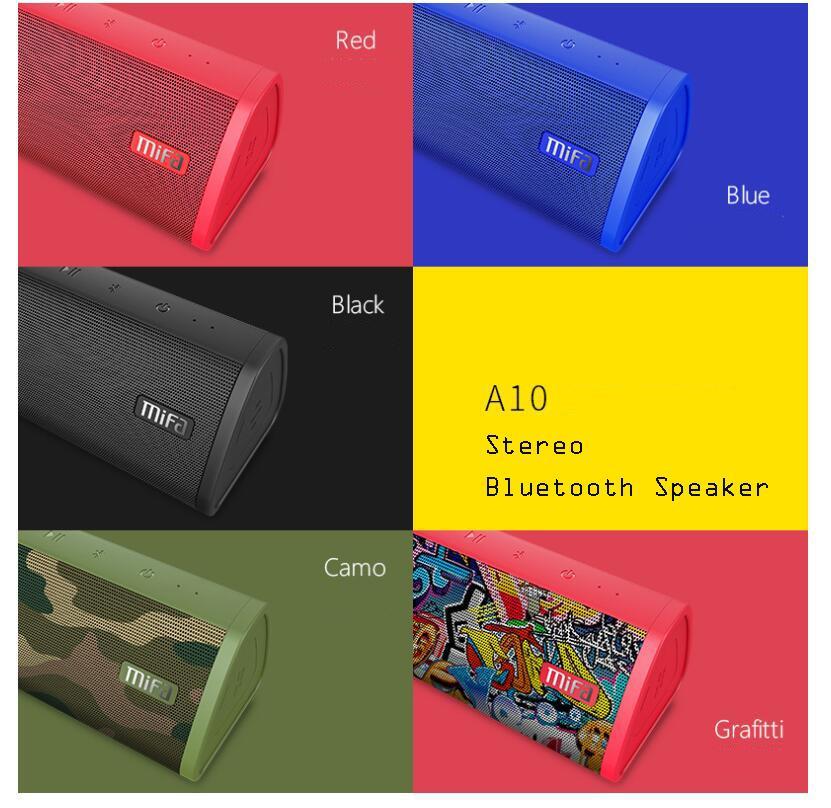 MIFA A10 بلوتوث المحمولة اللغة، واللغة في الهواء الطلق، ورئيس سطح المكتب، HIFI رئيس الصليب الحدود المتحدث بلوتوث للهاتف المحمول