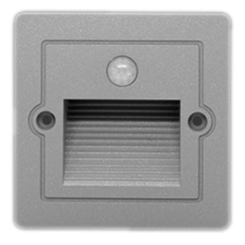 Hot Sale Stair Light IP65 Outdoor Waterproof Stair Lamp PIR Motion Sensor Led Footlight Recessed Corner Wall Lamp Courtyard Corr