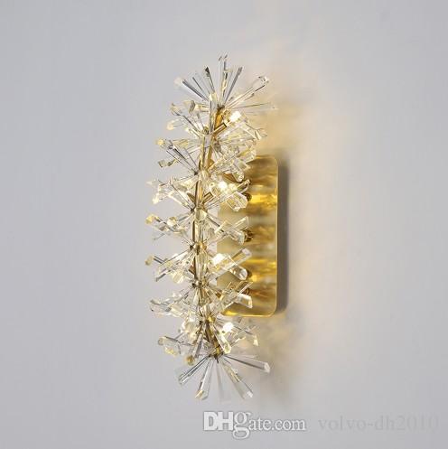 Kristallwandleuchten der modernen Inneneinrichtung des schönen Entwurfs führten Lampe AC110V 220V Freies Verschiffen LLFA