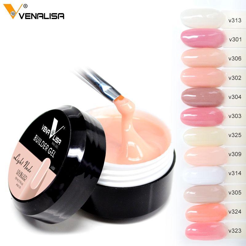 vente chaude Venalisa nouveaux produits 12 couleurs camouflage couleur uv construction de constructeur de vernis à ongles étendre ongle dur gelée poly gel