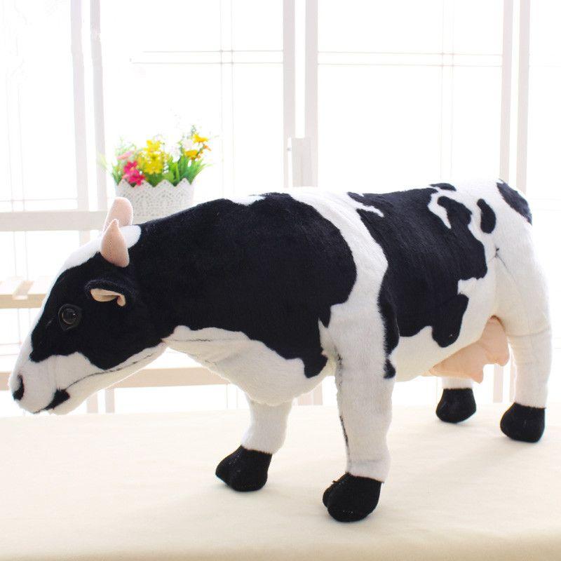 Regalo Mucca Da Latte.Acquista Simulazione Adorabile Animale Peluche Mucca Da Latte Peluche Grande Bambola Di Mucca Farcita Decorazione Regalo Piacevole 28 Pollici 70 Cm