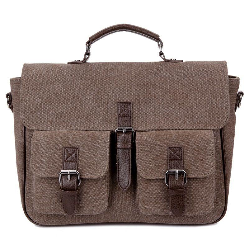 Canvas Messenger Bag Business 2019 Vintag Maletines Messenger Bag Casual Portátil Mochilas de hombro Bolsos duraderos