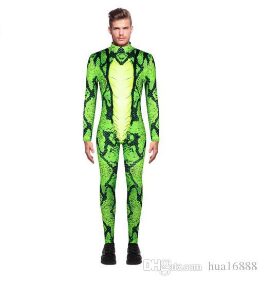 2019 novas calças dos homens macacão de moda masculina 3d leopardo trajes de desempenho de impressão digitais dos homens macacão de mangas compridas