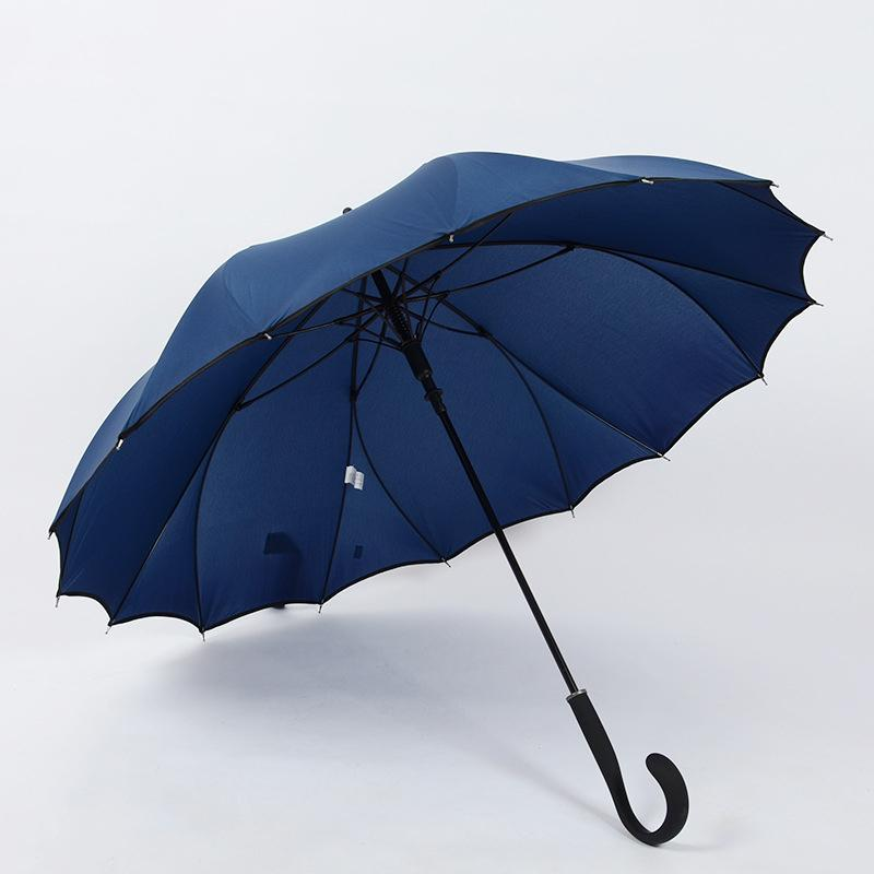 Yesello Blue Long Umbrella Creative Rain Sunny Women Girls Ladies Wind Resistant Umbrellas Long Handle Men Business Umbrella T8190619