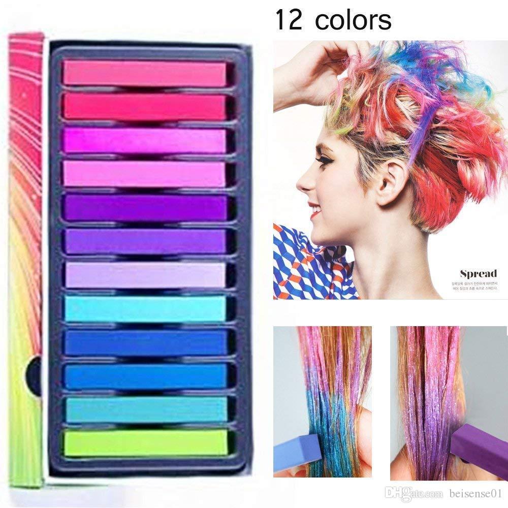 Hair Chalk,Hair Chalk Pens,Temporary Hair Chalk Washable Hair Color Safe  For Kids And Teen Christmas Girl Gift Hair Color And Styles Hair Color  Style ...