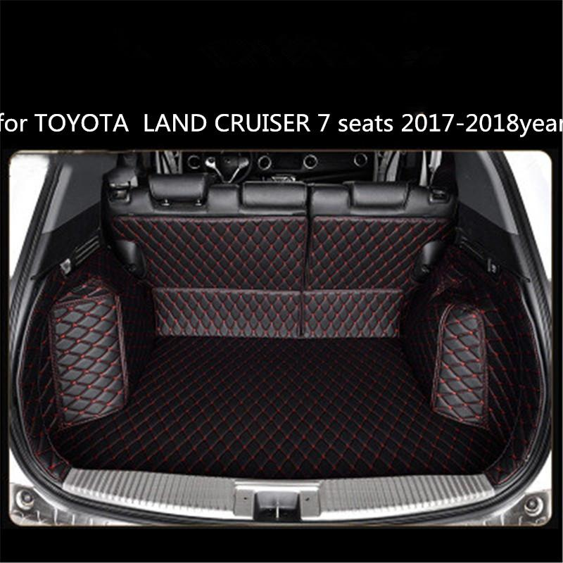 for TOYOTA LAND CRUISER 7 seats 2017-2018year Leather Car Trunk Full Surround Floor Mat Pallet Carpet