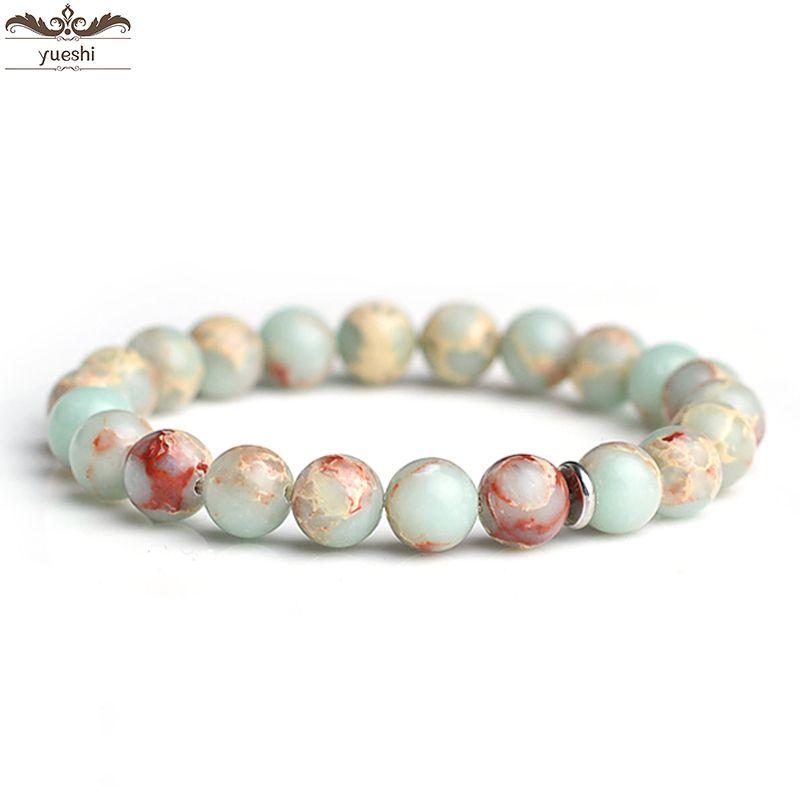 Naturstein-Armbänder Jade runde Perlenarmband neuen Sommer Männer und Frauen Paar Schmuck Gesundheitsschutz Frauen Schmuck