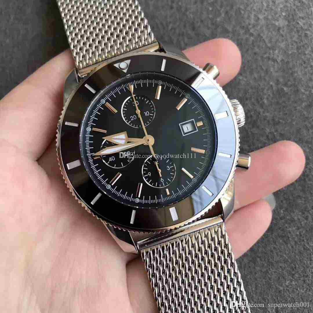 Top usine, sport luxuru nouvelle montre-bracelet hommes machine saphir miroir. Match 7750 de qualité 3A.