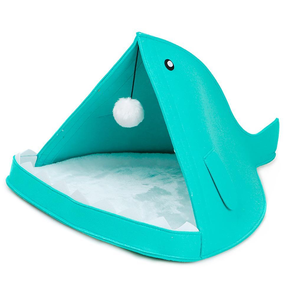 Portable Pliable Pupply House Drôle Fish-Type Pet NidCute Feutre Pet Chat Lits Nid Chien Maison Panier Cave