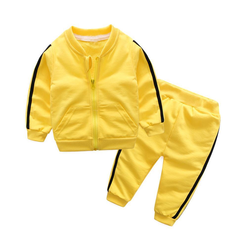 FZ1027X2 americana primavera e autunno stile caldo dei bambini vestito infantile bambini cerniera giacca sportiva due pezzi I vestiti del bambino