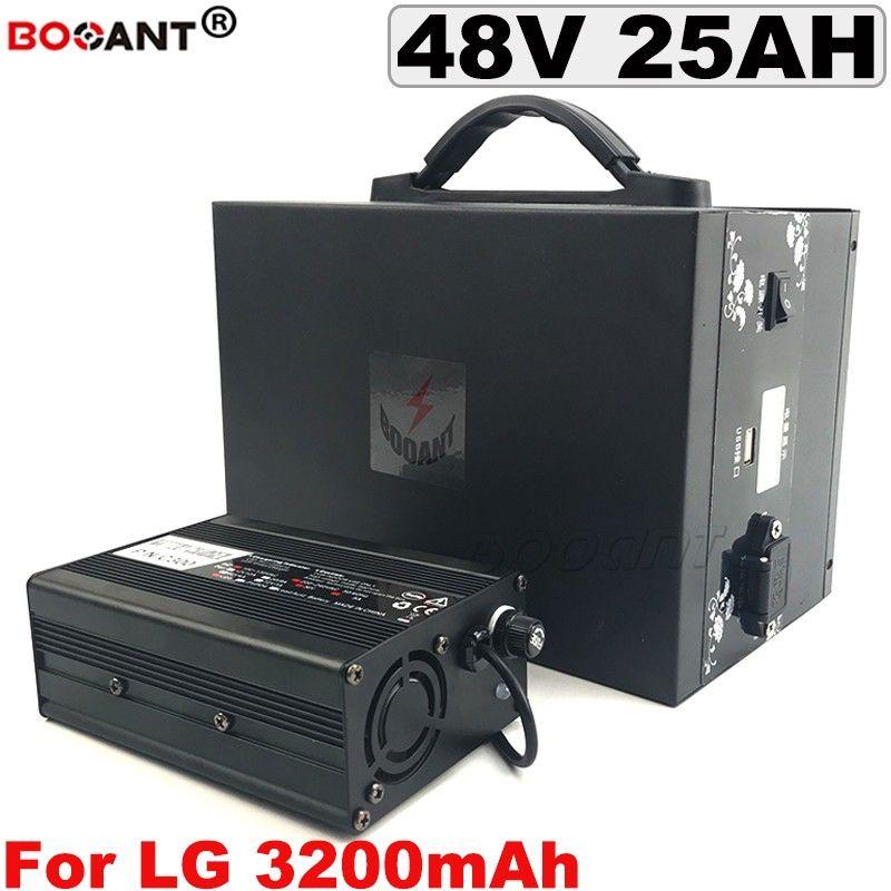 Pour LG 18650 48V 25Ah vélo électrique Batterie au lithium pour Bafang BBSHD 1000W moteur E-Bike Batterie au lithium 48V avec une boîte en métal