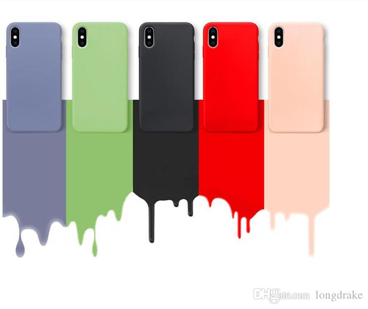 Flüssige Silizium-Farben-Fall für iPhone XS 11 Pro MAX XR X XS Max Candy Phone Cases für iPhone 11 7 6 6S 8 Plus Soft Cover