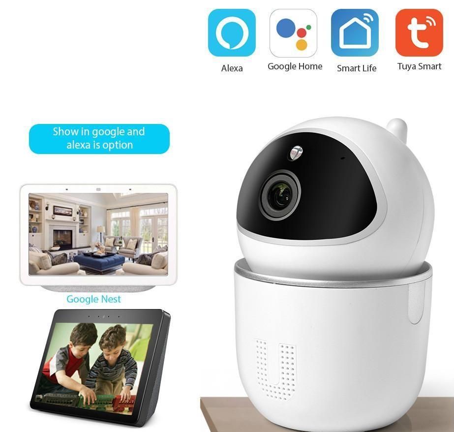 Tuya Alexa Camera Auto отслеживание WiFi Baby Monitor Home Security IR ночное видение Google