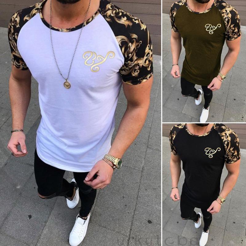 Nueva Camisetas para hombre ropa ocasional 3 colores la camiseta del cuello de O de los hombres de los hombres camisetas de la moda de fitness casual para los hombres
