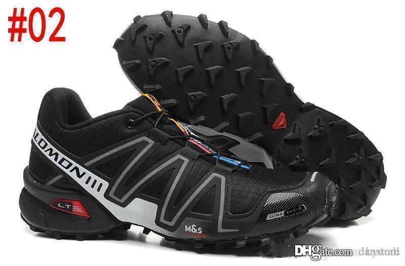 2018 nova Solomon velocidade cruz 3 III 3CS Trail Running Shoes para homens preto azul vermelho caminhadas ao ar livre tênis esportivos tamanho 40-46 dan