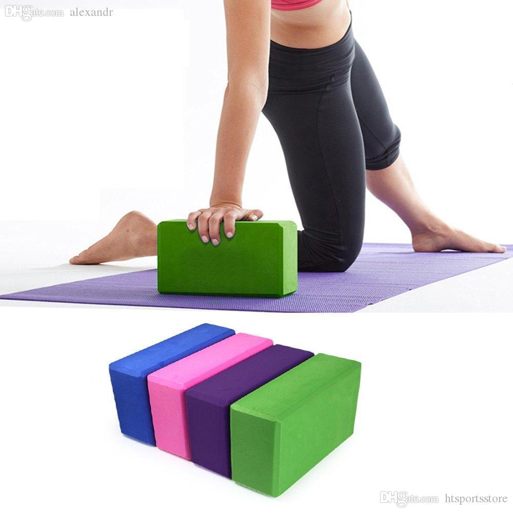 htsportsstore 2018 il trasporto libero di EVA Yoga blocco di mattoni di schiumatura casa di gomma piuma Esercizio Salute Fitness Gym strumento di pratica