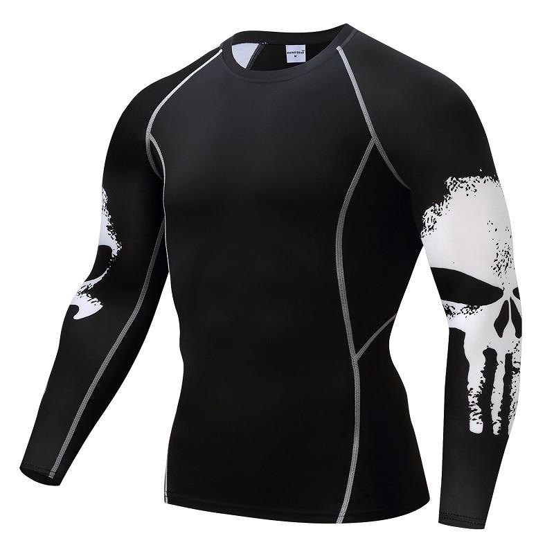 Punisher Compression Shirt Men's Breathable Fast-drying T-shirt Bodybuilding Top Crossfit T Fitness weight lifting Base Layer