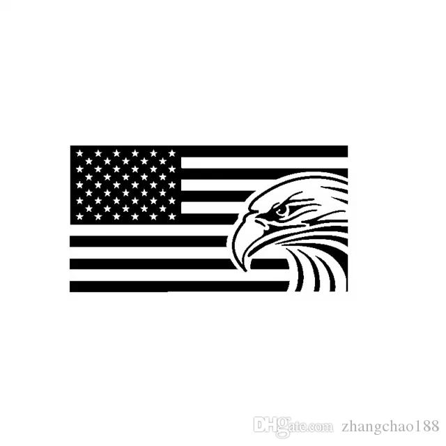 18 * 9.5CM Egle bandera americana EE.UU. vinilo de la etiqueta engomada del coche del CA-1168