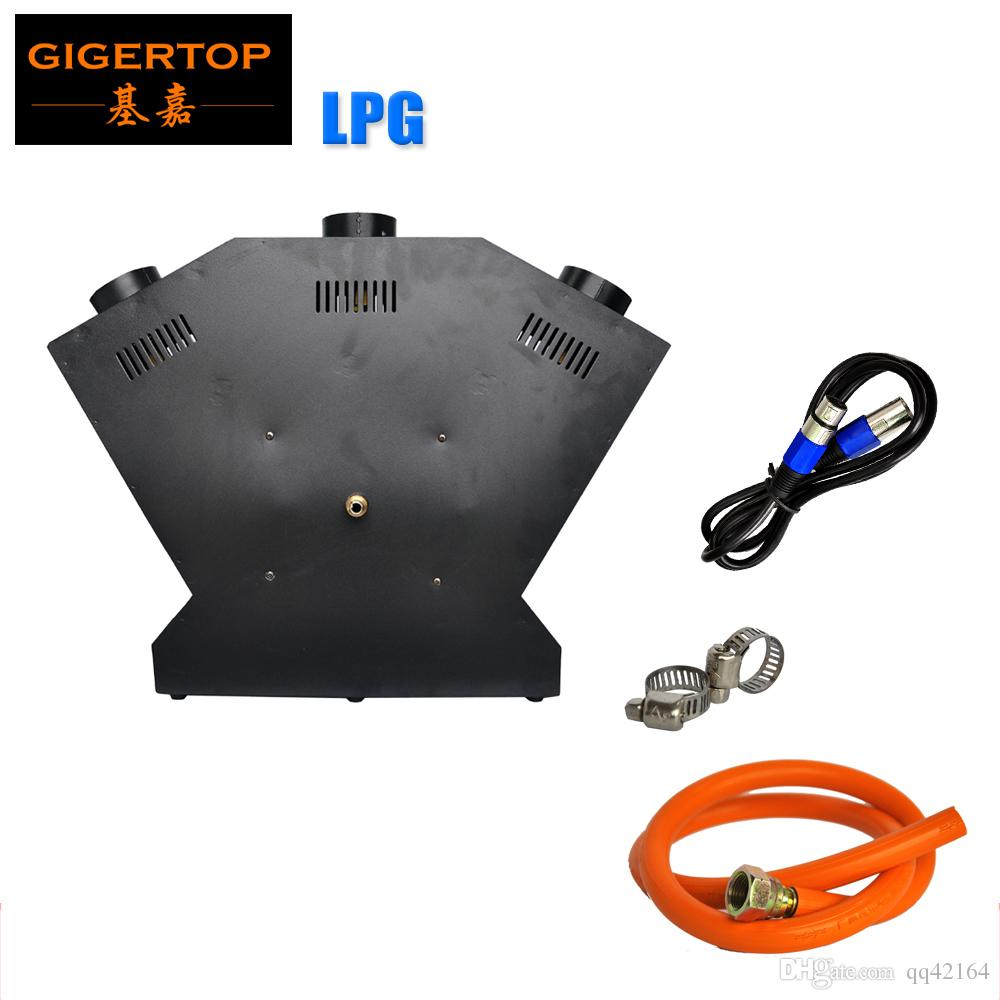 TIPTOP TP-T154B Lanciafiamme DJ Banda della fase / Visualizza Effect - DMX Fuoco proiettore Machine - Cina luce della fase 3 testina a getto / 3 Nozzle