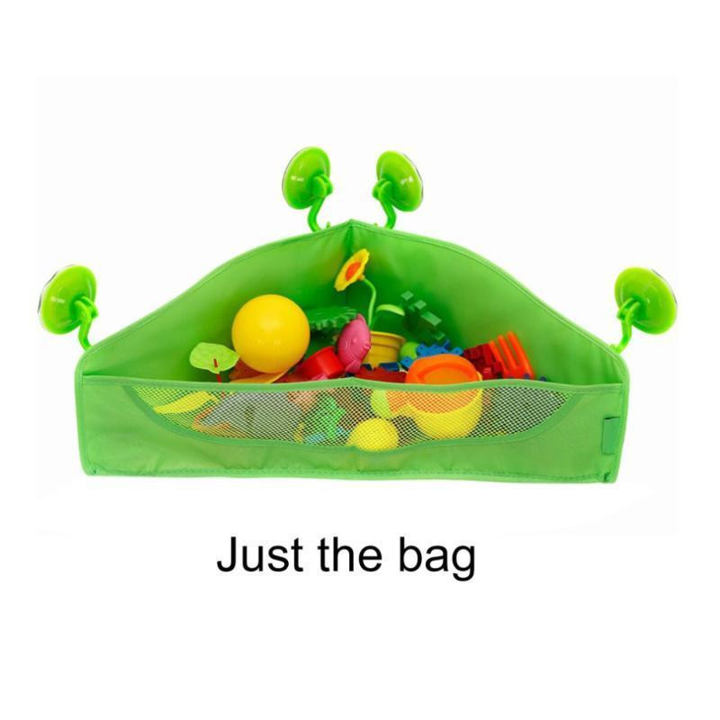 메쉬 그물 컨테이너 폴리 에스터 가방 네 흡입 컵 그린 컬러 매달려 1PC 아이 아기 장난감 주최자 잡화 보관 가방