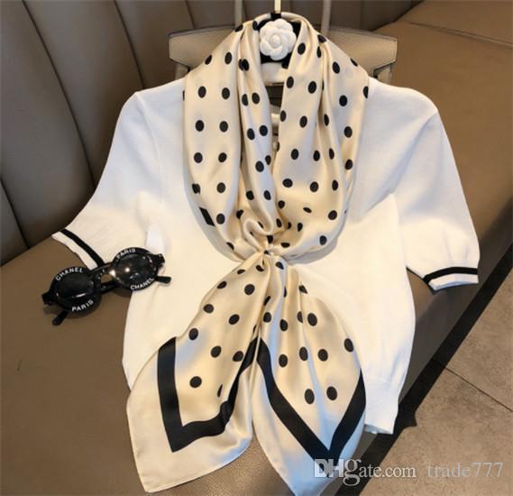Новая мода декоративные шарф Шарф ретро волна точка шарф профессиональный женский искусство площади