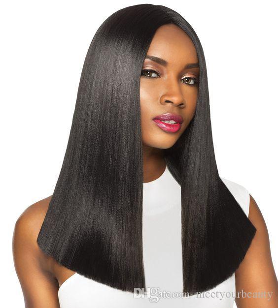 новая прическа длина плеча шелковистой прямой парик моделирования человеческих волос короткий боб шелковистой прямой полный парик