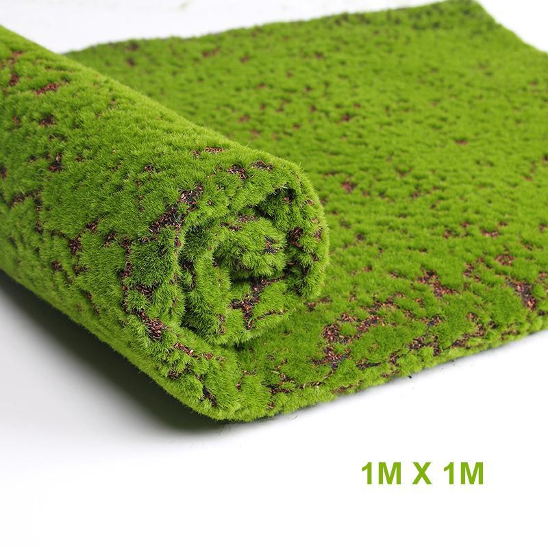 가짜 인공 이끼 이끼 잔디 가게 홈 파티오 장식 DIY 벽 장식 100 * 100 센치 메터 식물 1 개 가짜