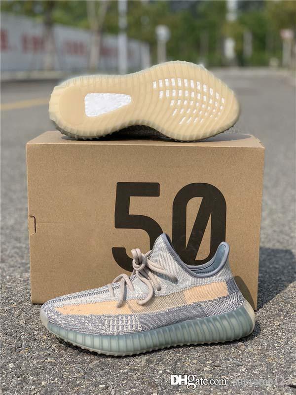 Melhores Qualidade 2020 Kanye West linho Cinder Running Shoes Mulheres Homens Israfil Zyon Enxofre 3M reflexiva Homem desenhista calça FZ5421 com caixa