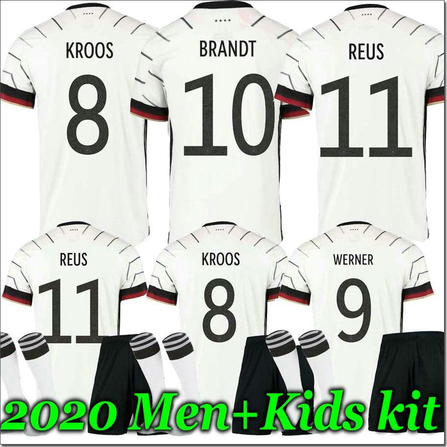 홈 MEN + KIDS 키트 독일 2020 축구 유니폼 멀리 KROOS HUMMELS 드락 슬러 레 우스 MULLER GOTZE KIMMICH 어린이 축구 셔츠 유니폼