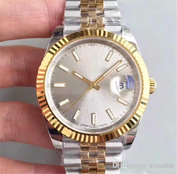 22 41mm Erkek İzle Spor Otomatik Mekanik kol saatleri İki Ton Altın Arama Tasarımcı saatler Reloj Moda Elbise Günlük Basit Saatler