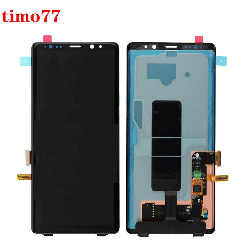yapıştırıcıyla Samsung GALAXY Note 8 N950 cep telefonu ekran lcd ekran dokunmatik ekran Yedek Dokunmatik Meclisi Tamamlandı İçin Orjinal