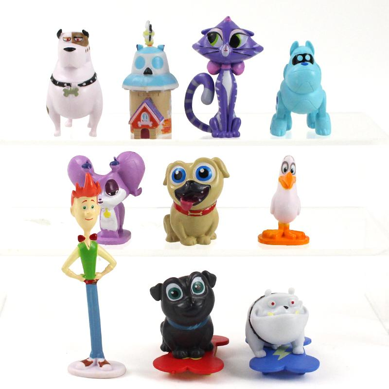 Puppy Dog Pals Bingo Rolly Bob dog and friends pug puppies PVC Figure Collectible Model Toy