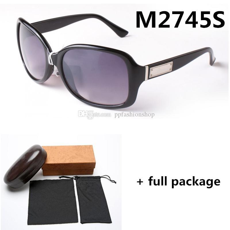 Marco grande 2745 Colores de las gafas de lujo diseñador de las señoras de Brown del leopardo Marca Gafas Tres con el paquete completo