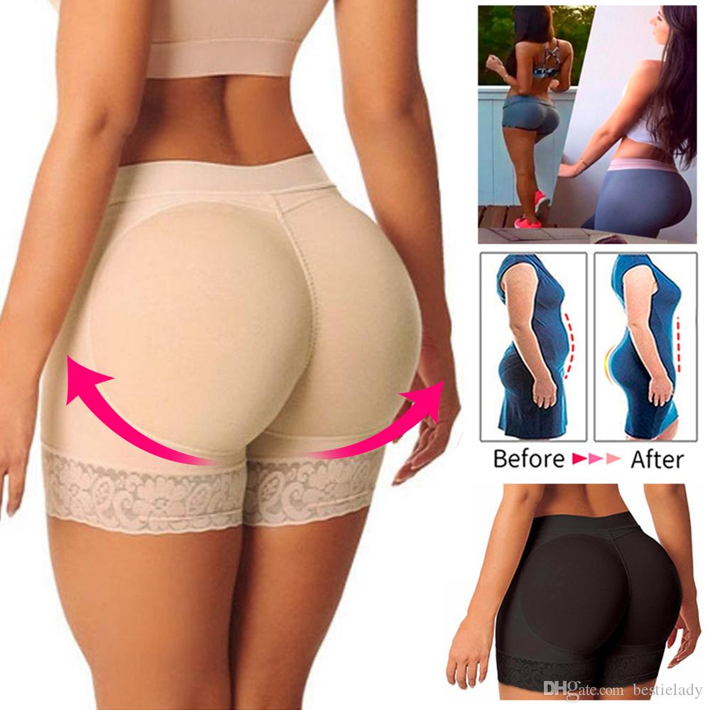 Women Booty Padded Control Panty Butt Lifter and Hip Enhancer Seamless Boyshorts Underwear Breathable Push Up Fake Big Ass Butt Body Shaper